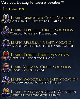 Vocations Overview