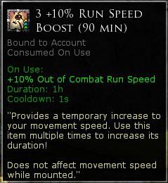 3 +10% Run speed boost (90 Minutes)