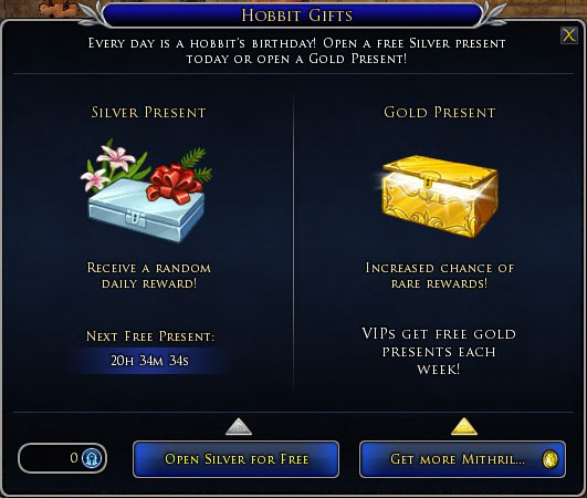 Hobbit Gifts Panel