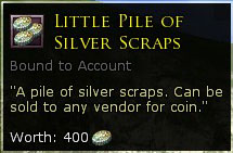 Little pile of silver Scraps