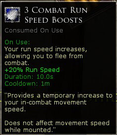 3 x Combat Run Speed Boosts