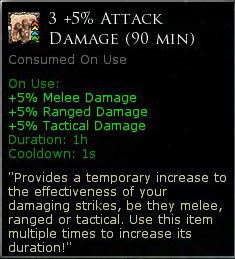3 x +5% Attack damage (90 minutes)