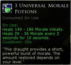 3 x Universal Morale Potion